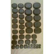 Lávové kameny gabbro 44 ks